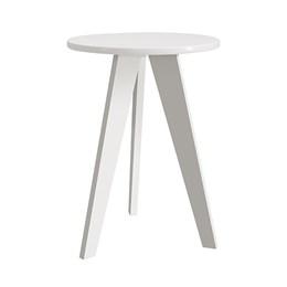 Mesa de Canto Prince Branco Fosco com Pés Branco - Reller Móveis