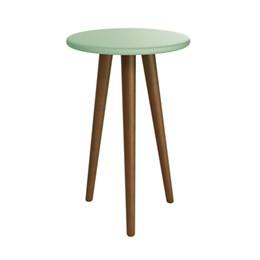 Mesa de Canto Theo Verde Fosco com Pés Amadeirado - Reller Móveis