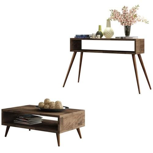 Mesa de centro Lucy com Aparador Quad - Deck - HB Móveis