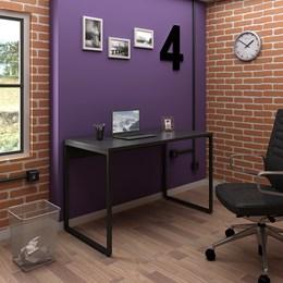 Mesa de Escritório Office Industrial 120 Preto - PR Móveis