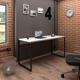 Mesa de Escritório Office Industrial 150 Branco - PR Móveis