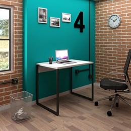 Mesa de Escritório Office Industrial 90 Branco - PR Móveis