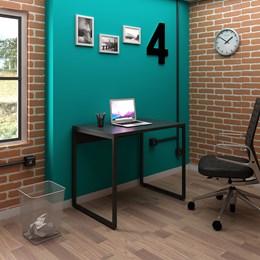 Mesa de Escritório Office Industrial 90 Preto - PR Móveis