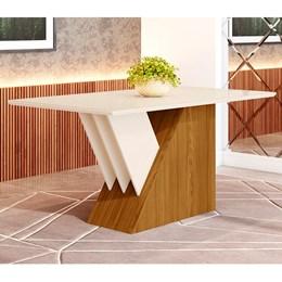 Mesa de Jantar 6 Lugares Epic 1600mm Nature/Off White - Móveis Henn
