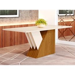 Mesa de Jantar 8 Lugares Epic 2000mm Nature/Off White - Móveis Henn