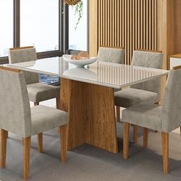 Mesa de Jantar Ana 160x90 Ipê/Off White - New Ceval