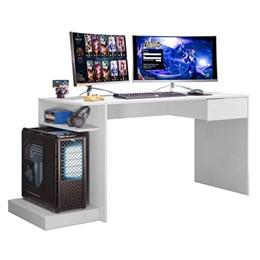 Mesa Para Computador Gamer Monster Branco Fosco - Mobler