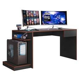 Mesa Para Computador Gamer Monster Preto Fosco/Vermelho - Mobler