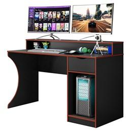 Mesa Para Computador Gamer Ninja Preto Fosco/Vermelho - Mobler