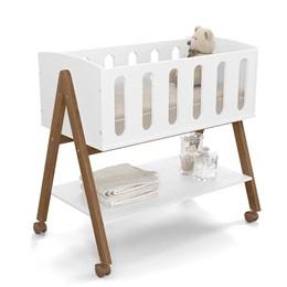 Mini Berço Multifuncional Moisés Sissi Branco Soft/Eco Wood - Matic Móveis