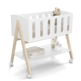 Mini Berço Multifuncional Moisés Sissi Branco Soft/Natural - Matic Móveis