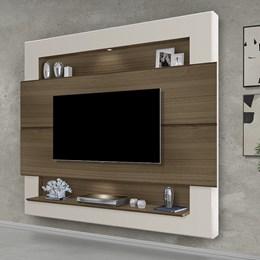 Painel Home Suspenso para TV Riviera 160cm Amêndoa/Off White - Móveis Luapa
