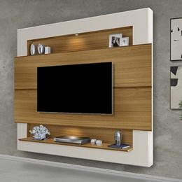 Painel Home Suspenso para TV Riviera 160cm Carvalho/Off White - Móveis Luapa