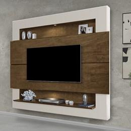 Painel Home Suspenso para TV Riviera 160cm Malbec/Off White - Móveis Luapa