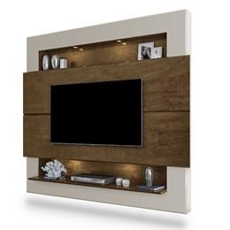 Painel Home Suspenso para TV Riviera 210cm Malbec/Off White - Móveis Luapa