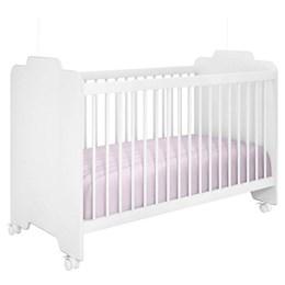 Quarto Infantil com Cômoda Aquarela e Berço Ternura Branco - Móveis Henn/Peternella Móveis