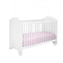 Quarto Infantil com Roupeiro Eloisa e Berço Ternura Branco - Phoenix Baby/Peternella Móveis