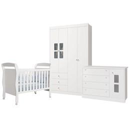 Quarto Infantil Joãozinho Branco Brilho - Reller Móveis