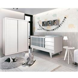 Quarto Infantil Prince Branco Fosco - Reller Móveis