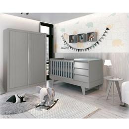 Quarto Infantil Prince Cinza Fosco - Reller Móveis