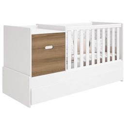 Quarto Infantil Victoria com Cômoda e Berço Cama Branco Fosco/Mezzo Fosco - Reller Móveis