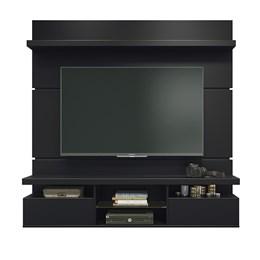 Sala de Estar Completa Classic 1.6 com Home Suspenso e Mesa de Centro Preto - PR Móveis