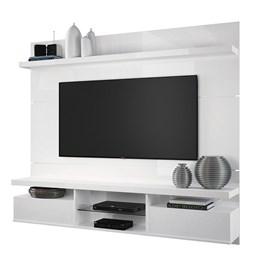 Sala de Estar Completa Classic 1.8 com Home Suspenso e Mesa de Centro Branco - PR Móveis