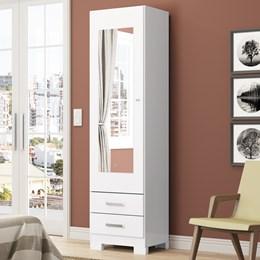 Sapateira Leon 01 Porta com Espelho Branco - Móveis Henn