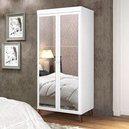 Sapateira Multiuso Atenas com Espelho Branco Acetinado - Potente Móveis